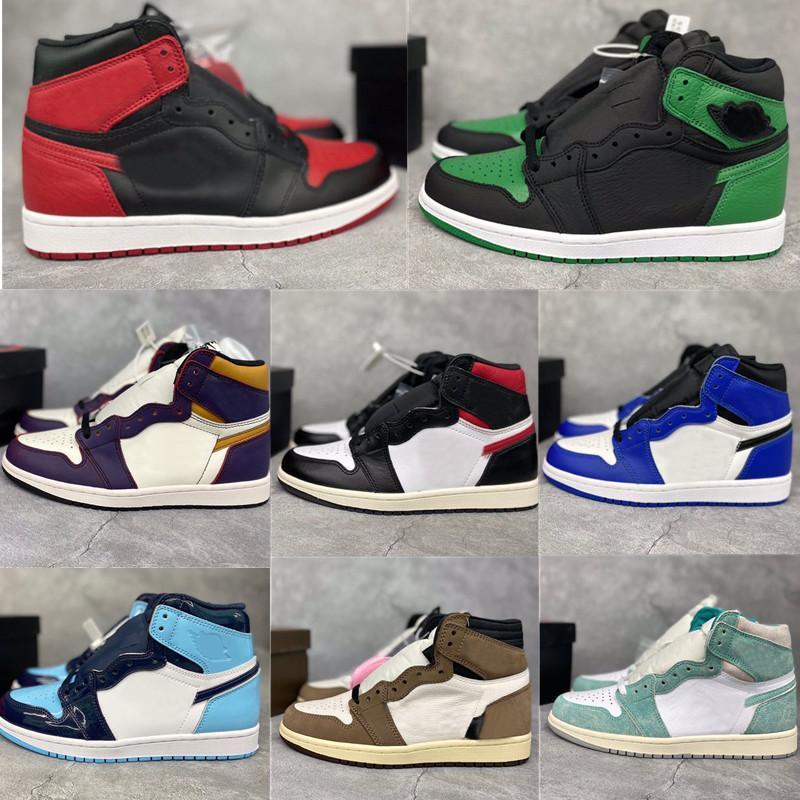 2020 Nuovo Jumpman OG 1S alta 1 pattini di pallacanestro atletica scarpe da UNC Obsidian scarpe da tennis correnti per la Mens sport delle donne Stylist formatori 36-46
