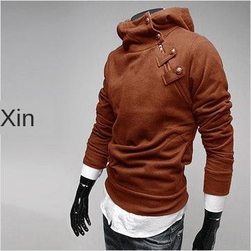 8F7o8 Новая осень и шерсти мужской Корейский утолщенной свитер меховой воротник metalfleece стиль с капюшоном кролик большой свитер зимой размер шерсти