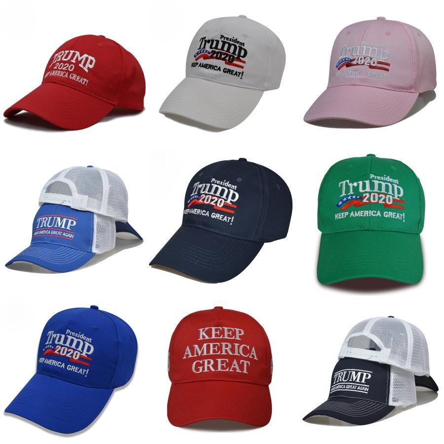 Faça América grande Novamente Caps Bordados Presidente Trump 2020 Boné de beisebol Adulto Moda Sports Hat # 609