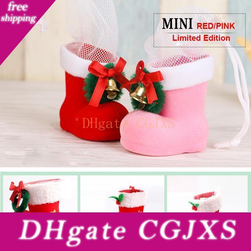 Yeni Noel Süsleri Şeker Boots Çocuk Hediye Yılbaşı Ağacı Yaratıcı Çanta Şeker Kutusu Kalem Konteyner akın Üst