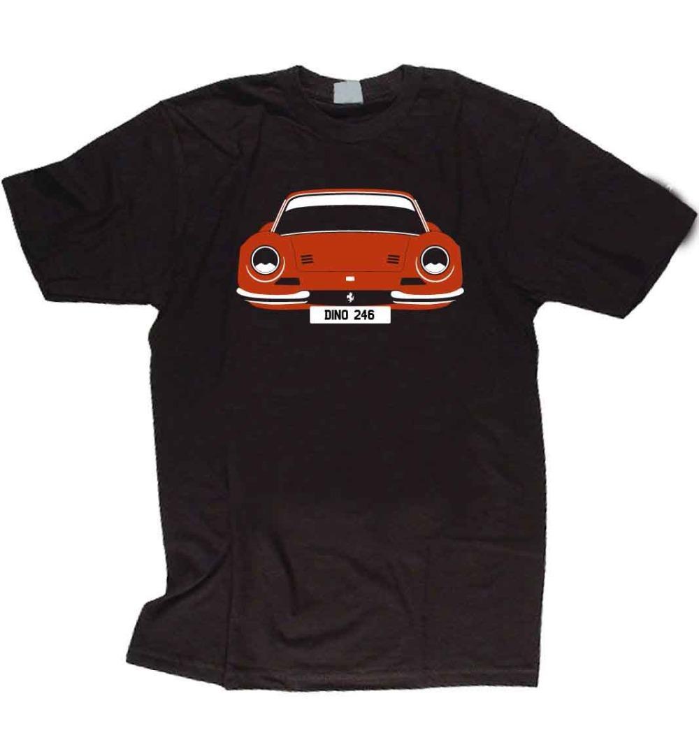Individuelles T-Shirt - Dino 246, wählen Wagenfarbe Was Hemd Erscheint auf dem Teller der neuen Männer-T-Shirt Art und Weise populäre Art-Mann-Entwurf A