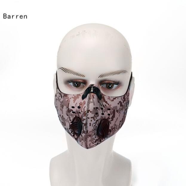 Nova camuflagem esporte face máscara filtro ativado carbono pm 2.5 anti-poluição correndo ciclismo mtb estrada bicicleta motocicleta anti dust facial onbi