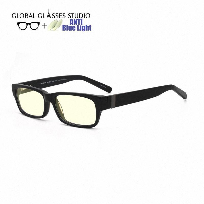 Anti Blau lichtundurchlässige Brille Acetate optische Gläser Vollrand Unisex cmputer RM00482 C1 Mutter Sonnenbrille Großhandel Sonnenbrille Fro kFxk #
