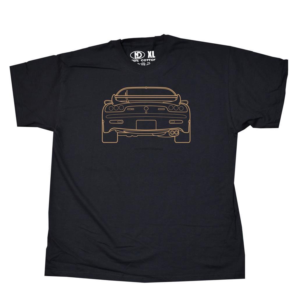 RX7 RX7 coche de deportes de camiseta 13B rotativo Wankel Motor S M L XL 2XL 3XL 4XL camiseta de los hombres