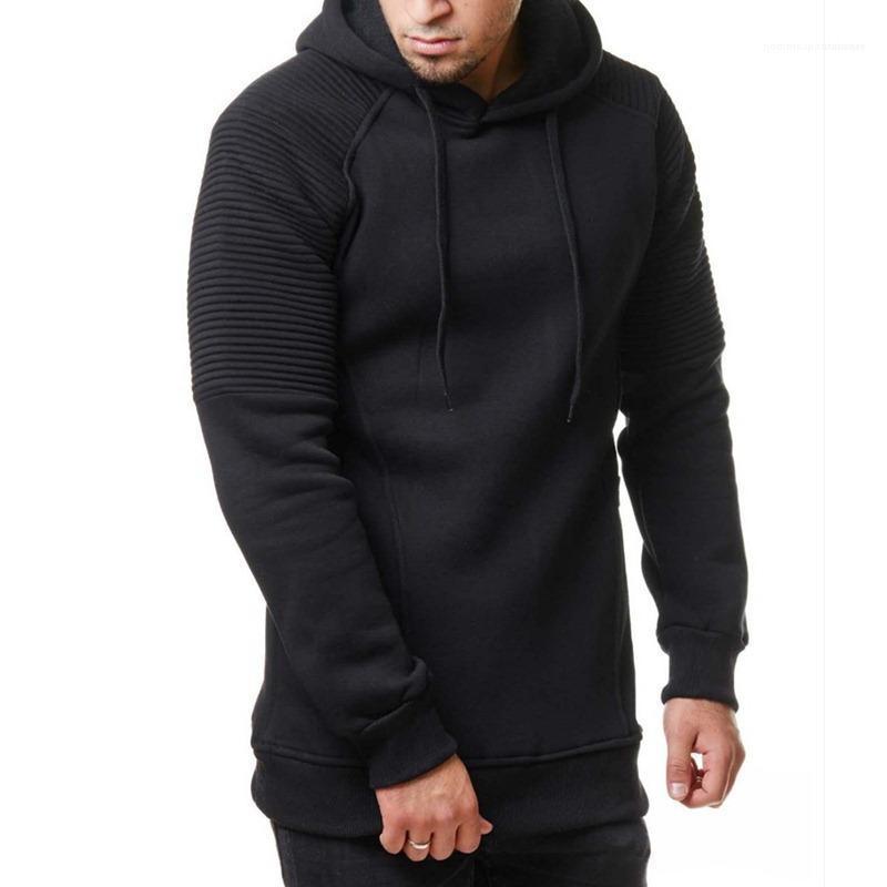 Casual Gevşek Tişörtü Tasarımcı Erkek dökümlü Katı Kapşonlu Spor Hoodie Sonbahar İlkbahar Erkek