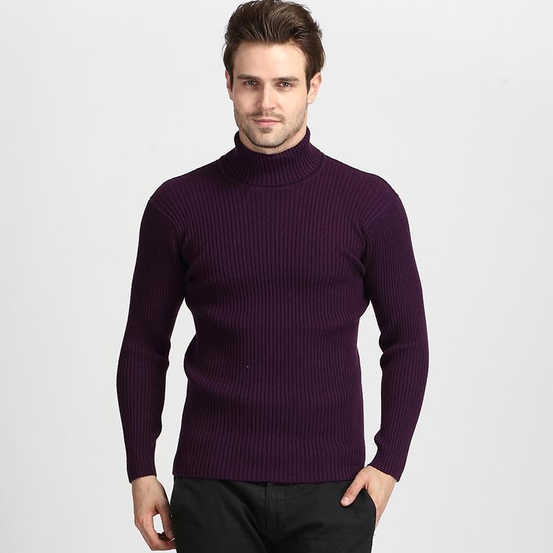 Мужские свитера 2021 осень зима мода водолазки свитер мужчина трикотажные теплые высокие эластичные мужские и пуловеры