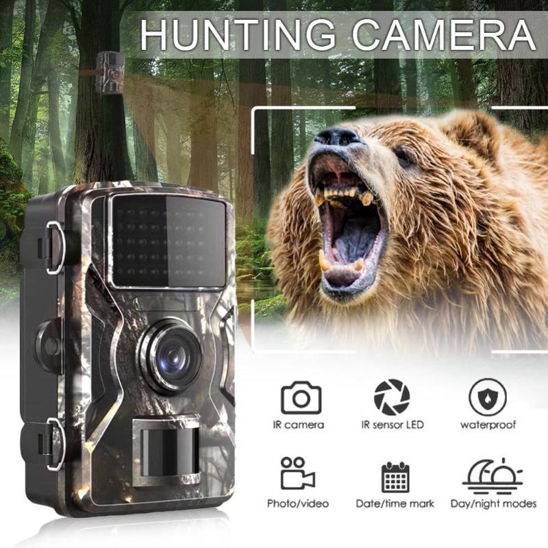 트레일 카메라 포리스트 카메라 DL-100 12MP 1080P 와일드 카메라 추적 게임 IP66 야간 시계 사냥 사진 트랩 열 이미 저
