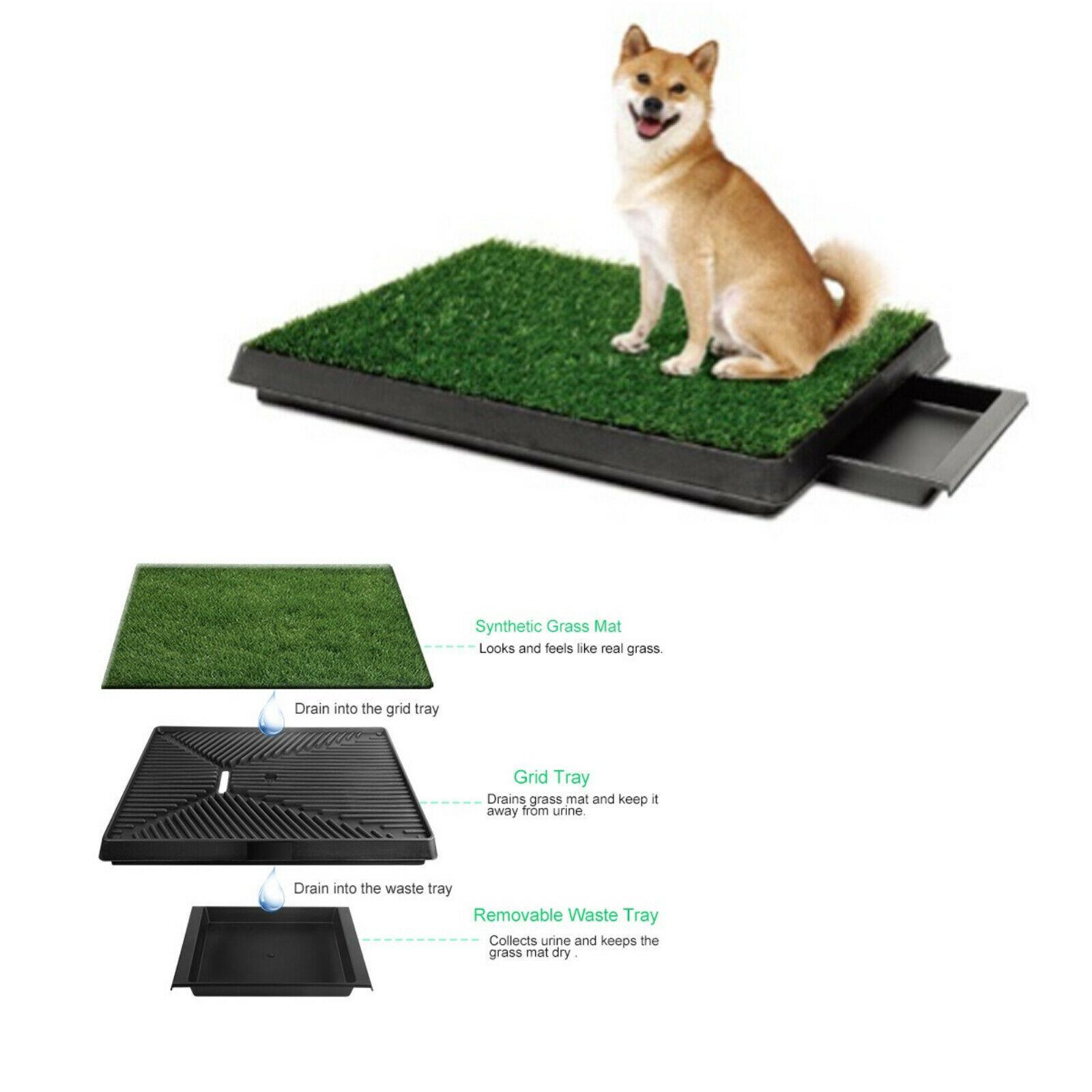 3-strato di PET Potty Trainer Erba Mat Dog Training Pee Patch Pad Bagno mobile