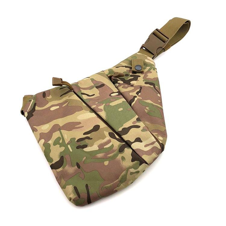 Mens Leisure Sports Chest Pack Multi-Functional Tactical Single-Shoulder Cross-Body Gun Storage Bag Camouflage Close-Fitting Anti-Theft Bag