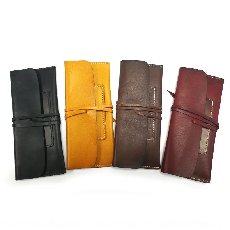 Yksa3 New einfacher langen echter Leder Karteninhaber koreanische Multifunktionsgeldbörse Spitzen-up-Tasche New einfaches langen echtes Leder Ticket ho