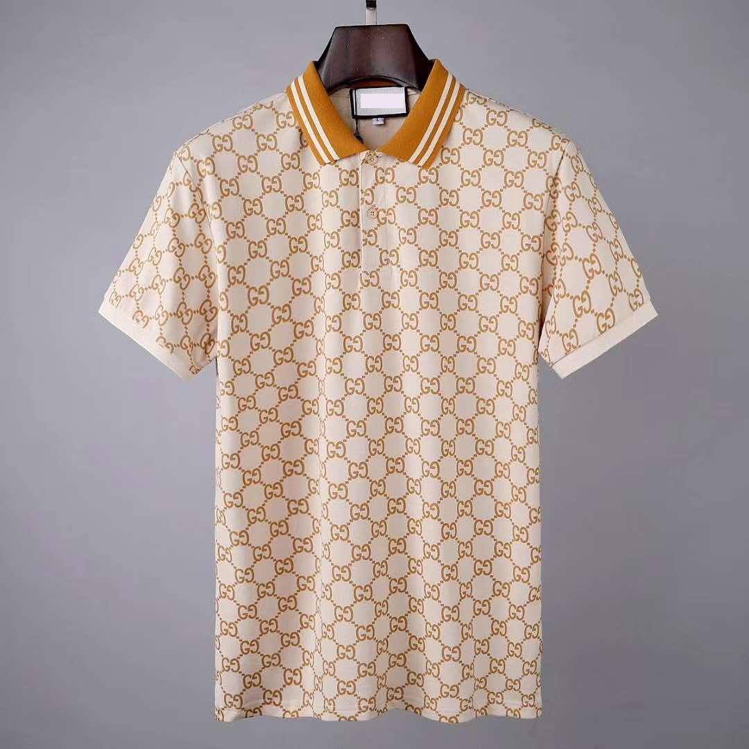 Модный бренд дизайнер поло мужчин вскользь тенниска вышитая Medusa хлопка поло рубашки Высокий воротник улица люкс Поло рубашки
