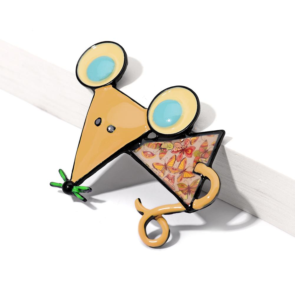 Broche d'émail Souris pour femmes Broches Pins Costume Robe Accessoires Bijoux Cartoon Broche Meilleurs amis Cadeaux Boy fille Brooches