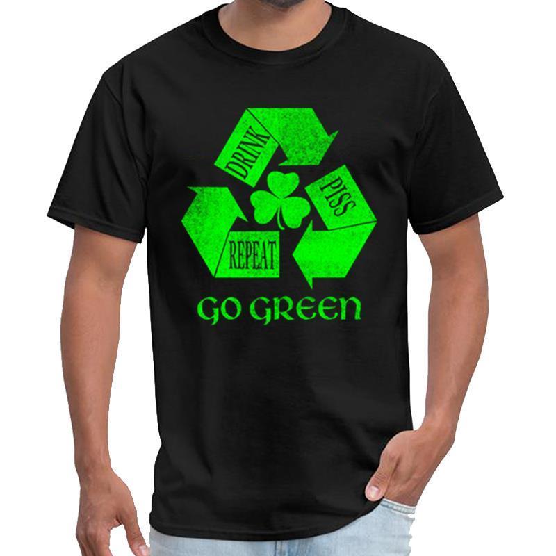 Designer Drink Piss Ripetere Go Green T della maglietta delle donne Giappone skinhead maglietta 3xl 4xl 5XL 6XL slogan