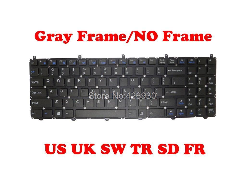 US TR SP SD FR UK Keyboard For CLEVO W650EH W650RZ1 W650SB W650SC W650SF W650SH W650SJ W650SR United States Turkey Spain Sweden