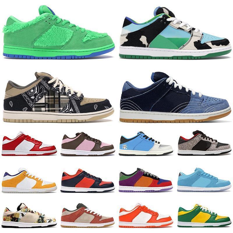 2020 Dunky Tıknaz Dunky Düşük Erkek Kadın Koşu Ayakkabıları Sashiko Ayılar Yeşil Opti Sarı Acg Terra Champ Renkler Erkek Eğitmenler Spor Sneaker