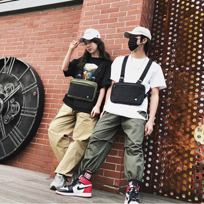 I nuovi uomini tattico Marsupio tattico della cassa della maglia pacchetto Hip hop Funzione Chest Rig pacchetto militare di nylon della maglia della cassa rig Confezione