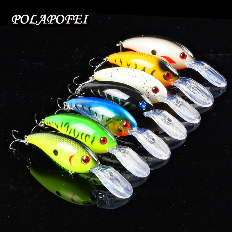 7pcs Wobbler Fishing Lure 10cm 15g Crankbait Black Minnow Pike Salmon Artificial Bait Balancer Hook Fishing Accessories D59 Y200827