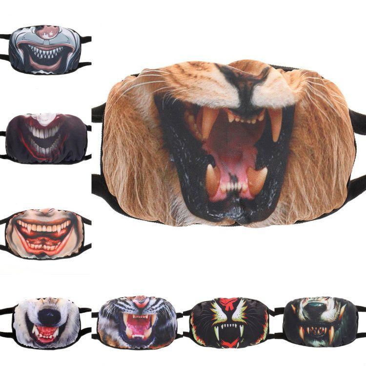 Hot Non Mainstream criativo expressão personalizado poeira máscara, à prova de vento, máscara protetor solar, design lavável e reutilizável 13 Estilo T50043