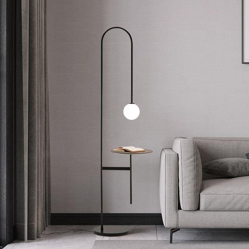 현대 LED 플로어 램프 거실 침실 조명에 서 램프 간단한 소파 장식 층 전등 옆 라인 조명