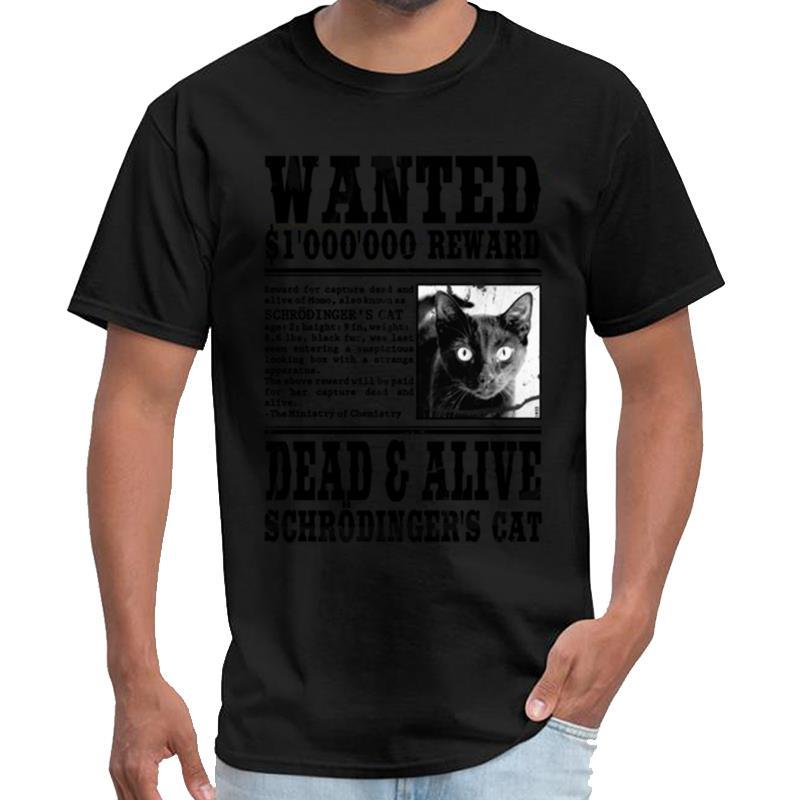 Gato querido, muerto y vivo camiseta gatos homme guerrero del Impreso de Schrödinger camisetas camisa de gran tamaño s traje ~ 6XL