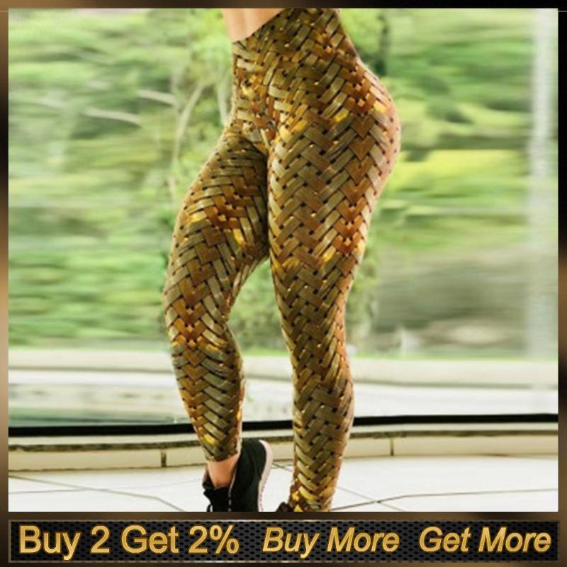 Yoga Outfits 2021 Summer Sport Leggings Printed Women Fitness High-waist Hip Stretch Underpants Running Pants