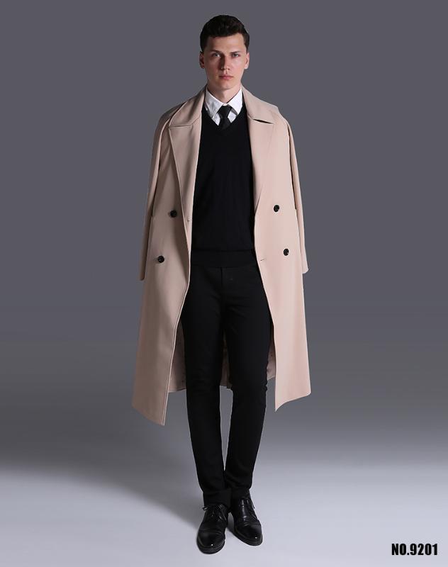 S-6XL! Super largo foso de la capa masculina 2020 nuevos europeos y americanos mangas largas Hombre de gran tamaño flojo Outwear!