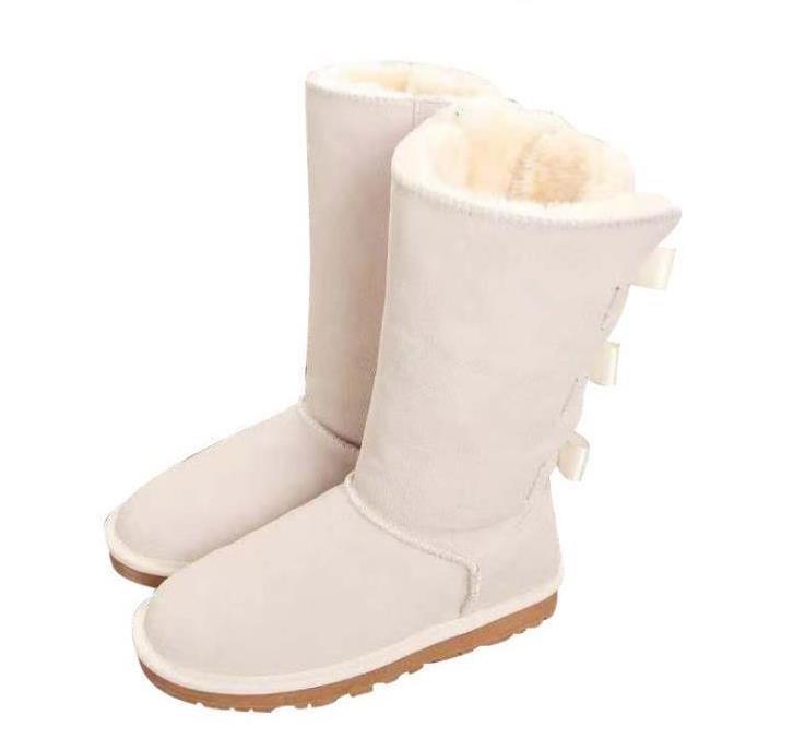 con caja de EU35 de 42 a 46 tradingbear piel de vaca cuero genuino Australia botas de nieve botas de piel Bowknot del taladro de raquetas de nieve