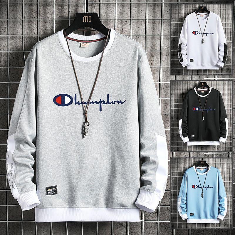 maglione girocollo uomo pullover allentato 2020 Pullover Sweat felpa autunno / camicia sportiva Inverno uomo manica lunga T-shirt ftja6