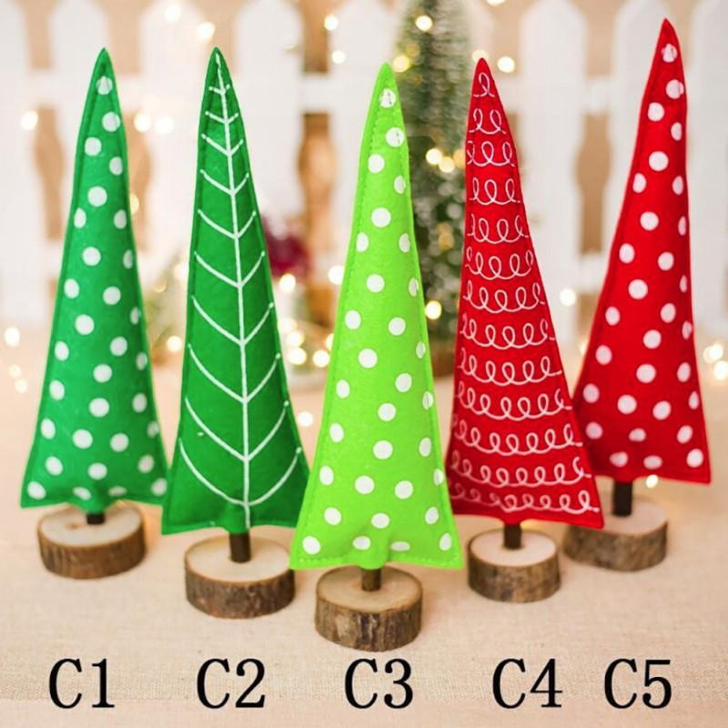 Noel Dekorasyon Ahşap Stakes Süsler Noel ağacı Yaratıcı Süsler Ev Bahçe Şenlikli Parti Malzemeleri