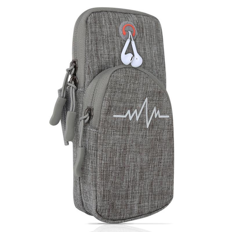 Sac de téléphone bras avec bras imperméable Fermeture à glissière Portable Pouch pour Running Sports Fitness H7JP
