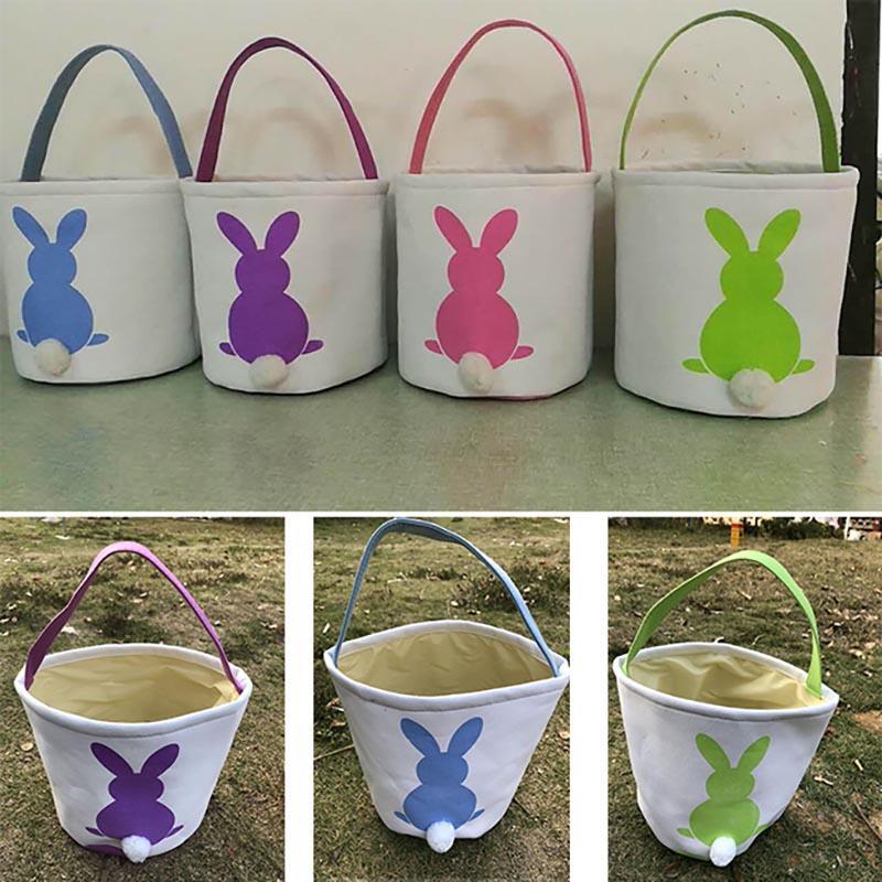Cesti fai da te Easter Egg Bunny Borse dell'orecchio di coniglio sacchetti di immagazzinaggio Hangbags Totes 23 * 25cm DHL NAVE HH7-827