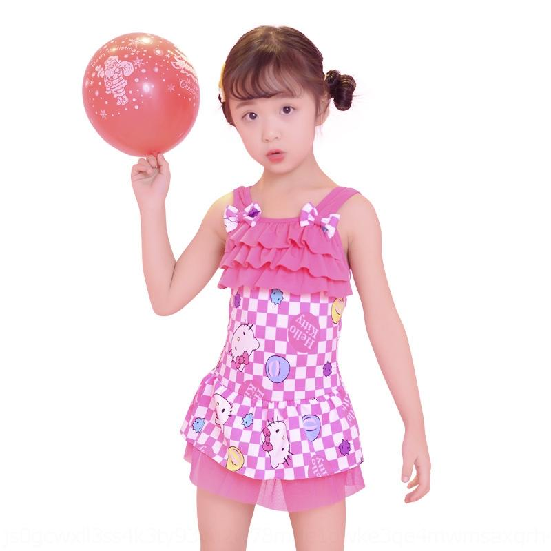 9NXBn AMdCb Children's swimsuit silk Milk cute girl's one-piece bikini milk swimsuit silk baby Bikini