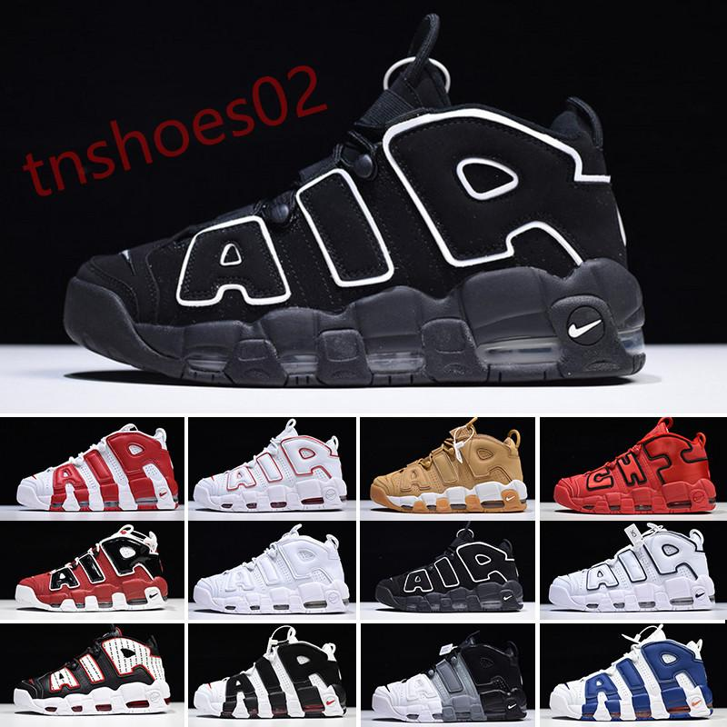 Nike Air More Uptempo 2020 de ar mais Uptempo basquete Sapatos Homens Scottie Pippen Chicago Red Black White desportivo Para cestas Mulheres Deisgners Sneakers Tamanho N46