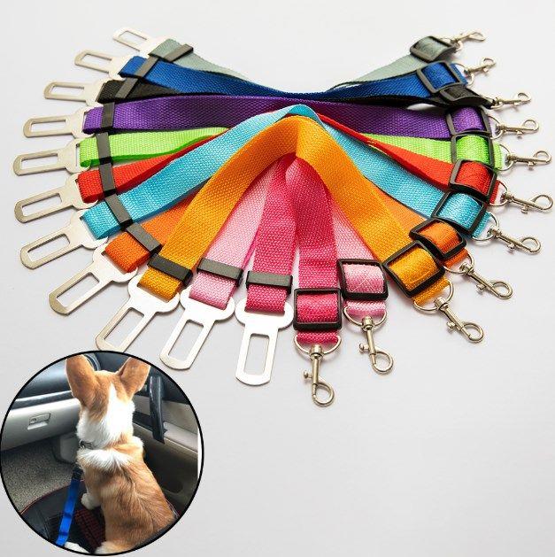 مقعد كلب القط السيارة حزام قابل للتعديل حزام حزام الأمان المقود الرئيسي لمتوسط الكلاب الصغيرة السفر كليب مستلزمات الحيوانات الأليفة 11 اللون