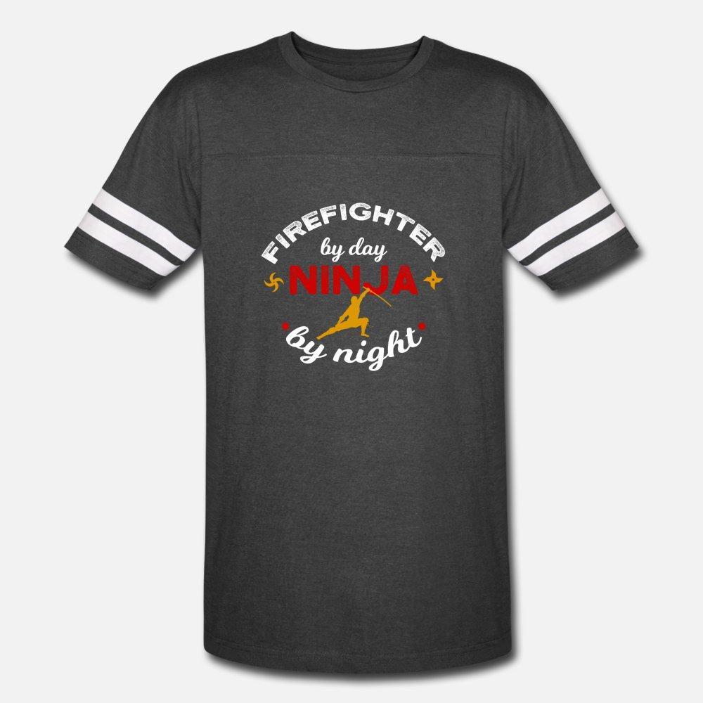 İtfaiyeci Güne Göre Ninja By Night t gömlek erkekler Tasarım pamuk Mürettebat Boyun Ünlü Otantik yaz Benzersiz gömlek sığacak