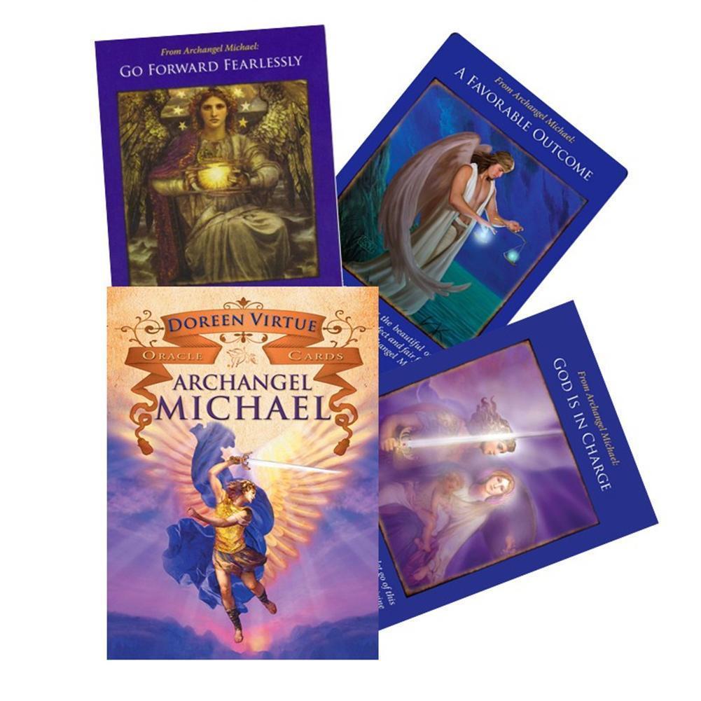 44pcs Archange Michael Oracle Cartes de jeu de papier couché Cartes durable de jeu pour Family Party Jouets bbyXpa best_dhseller