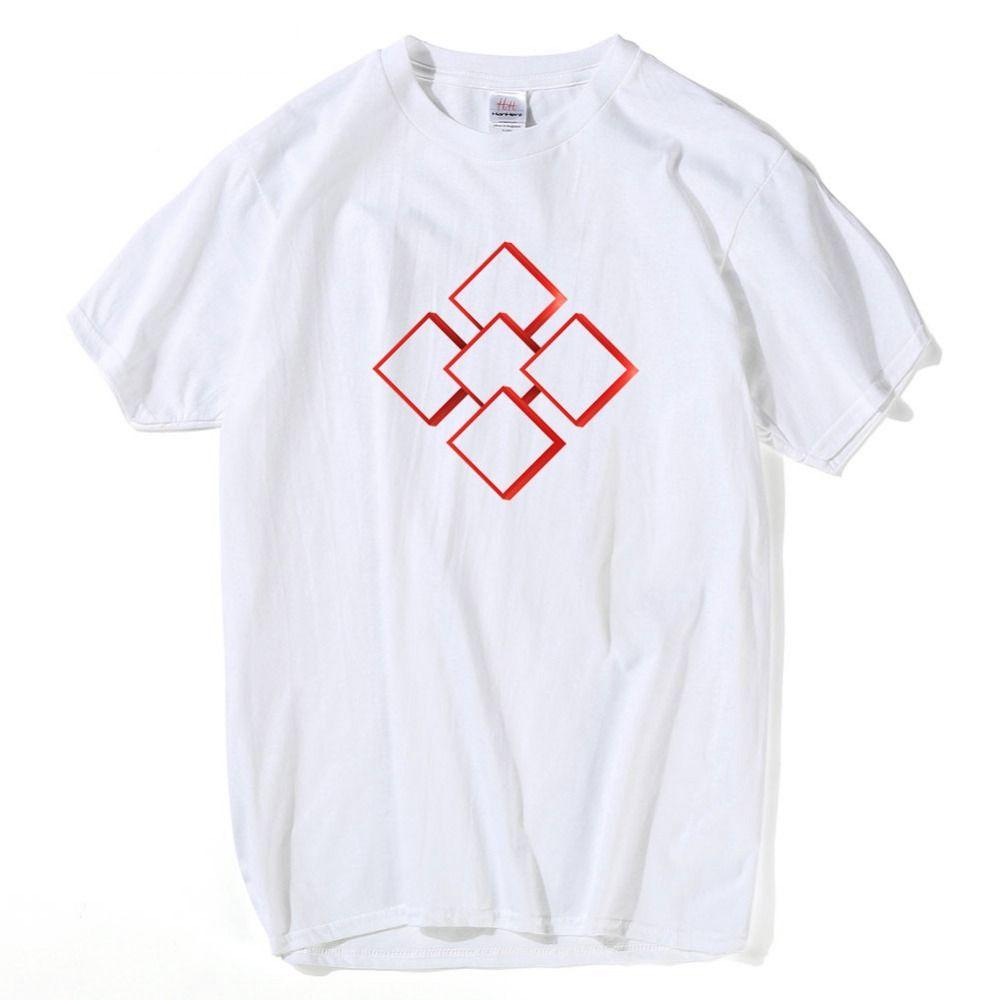 Raum Geometric T-Shirt Mann-Kurzschluss Sommer Comic Short Sleeve Städtischer Grund Start Unterwäsche Math Geek Moderne T-Shirt Street