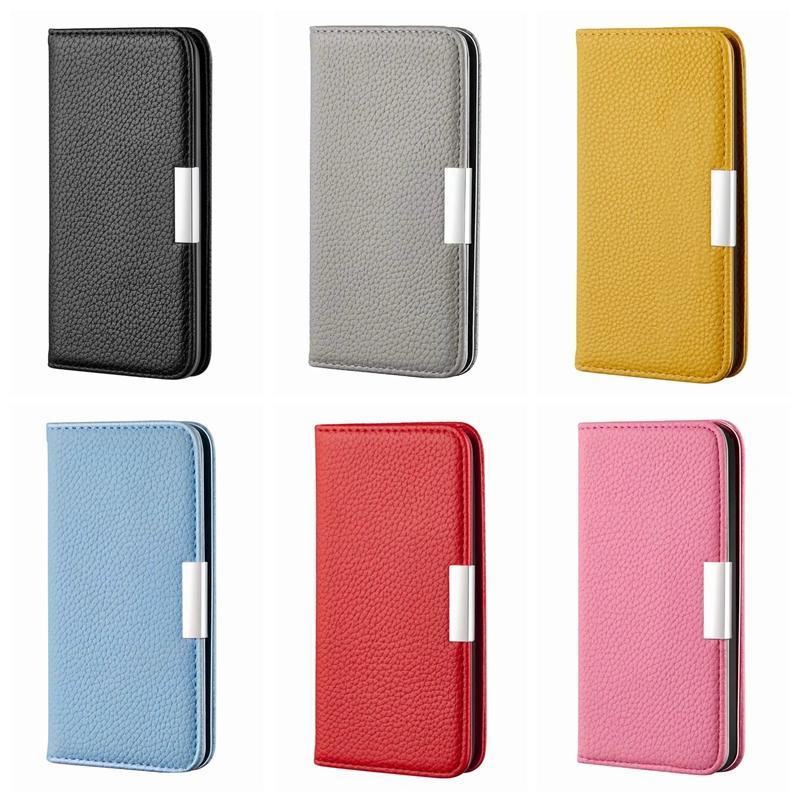 Funda de billetera de cierre magnético fuerte para iPhone 12 Mini Pro Samsung S20 Fe Samsung S21 Nota 20 Ultra A42 M51 M51 Suck Cuero Tapa de la cubierta Flip