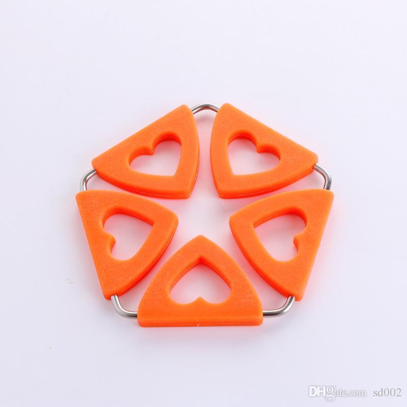 Kupa Coaster Özgünlük Kalp Silikon Pot Tutucular Mutfak Pratik Kolay İçin Dayanıklı Roman 4 5jy cc Carry ısıtın Şeklinde