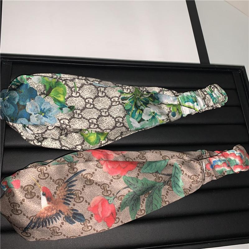 Stilvolle Vogel-Blumen-Stirnband klassischer Buchstabe Art und Weise Stirnbänder Kreuz elastisches Hairband Yoga-Party-Hauptbänder der Frauen im Freien Haarreif