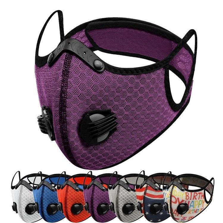 nuevos 25 estilos Ciclismo Máscara reutilizable a prueba de polvo de la máscara transpirable Sun hace frente al aire libre a prueba de viento Máscaras Máscaras máscara de diseño T2I51316