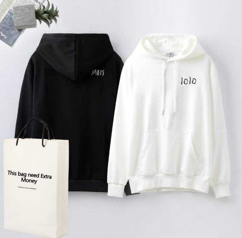 20FW Lettres de broderie Pulls d'homme Sweat-shirts pour femmes Pull Printemps Automne overs Streetwear Homme Vêtements M-2XL Top qualité -1