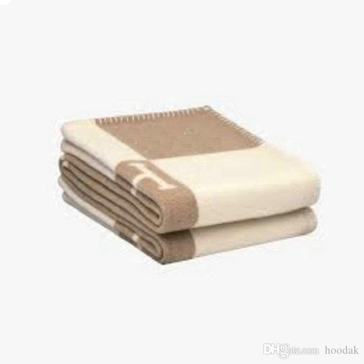 140x170cm letra H Cashmere cobertor Crochet Soft Wool Shawl Portátil Manta Quente Sofá Viagem Fleece Cobertoras Tapetos Toalheiros