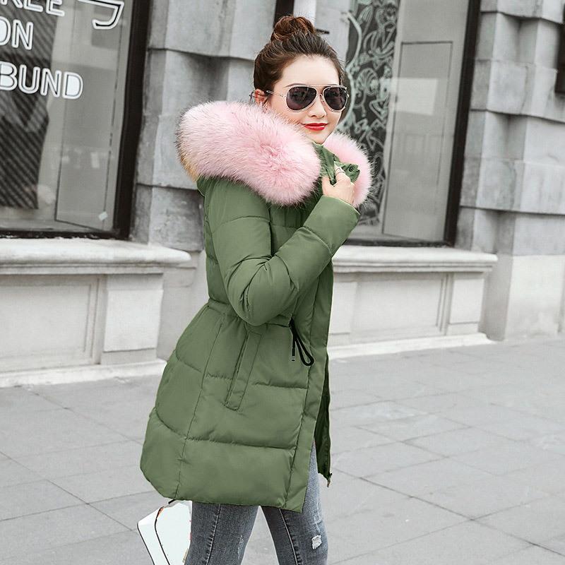 2019 moda magro cabana longa parka aquecer casacos inverno roupas jaqueta com capuz casaco t200831