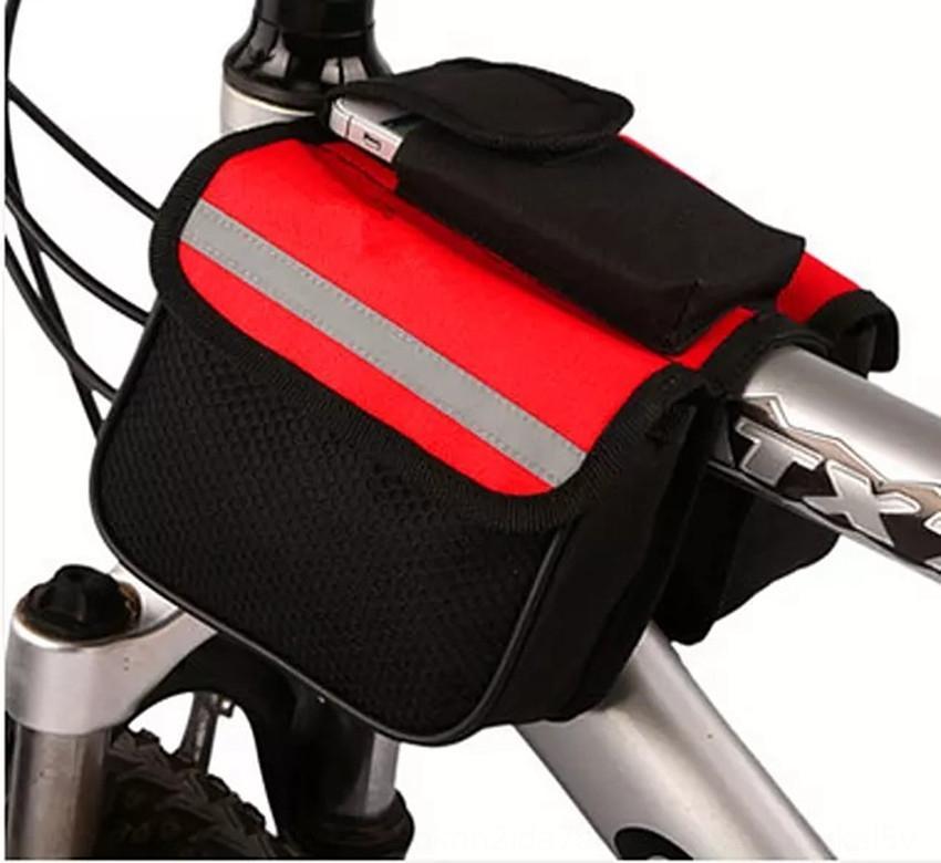 Tres-en-uno de accesorios para bicicletas / bolsa haz bicicleta bolsa de tubo superior frontal de silla de montar de la montaña / bicicleta montando equipos accesorios bolsa colgando