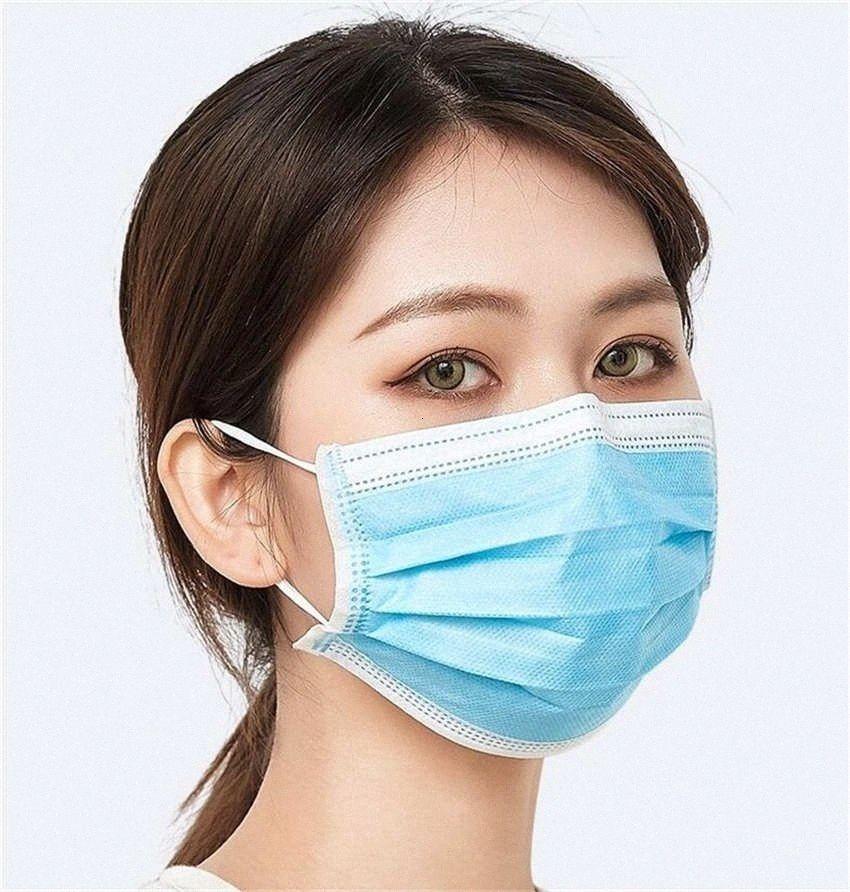 Maskeler Dokuma Gemi Sigara 50 Yüz 1PCS Pack 3 Katman earloop Karbon Tozu Fa Kn Mascherine teGF # Mavi 95 Seviye Maskeler Maske Aktif