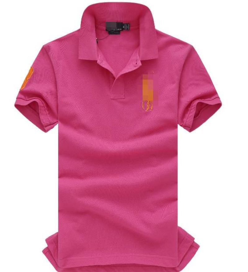 Hotpink V-Neck Pure Color Menswear comodamente in primavera e in autunno T-shirt con maniche corte 2061