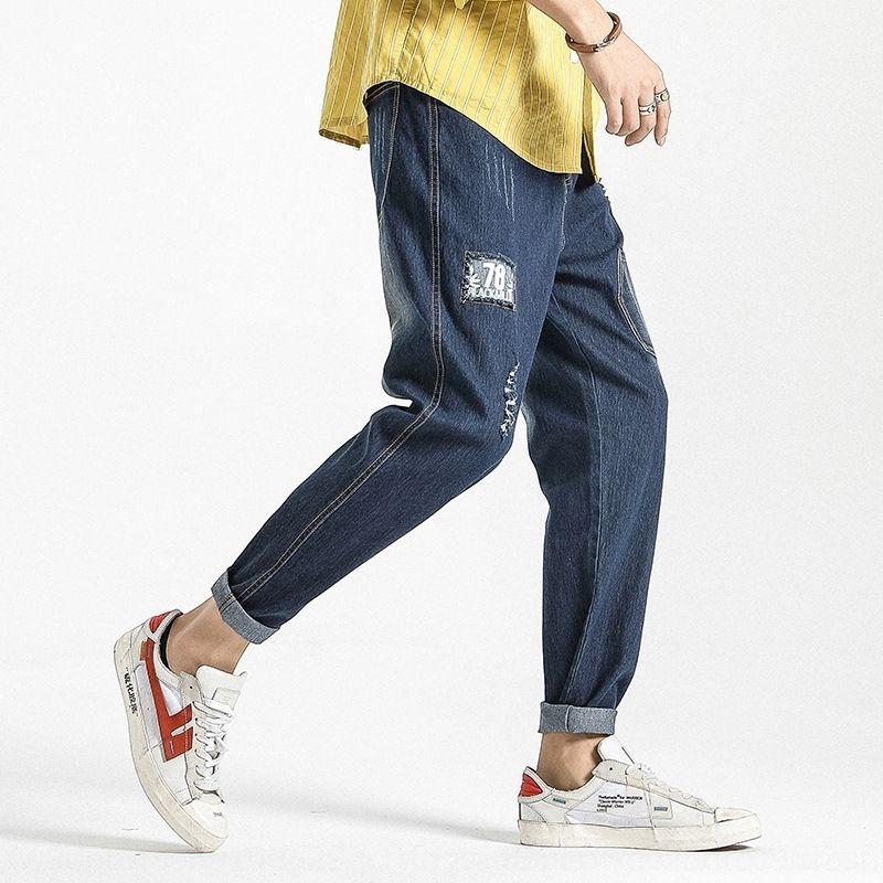 MaDi2 Plus size 2020 Männer kleine neue Schlankheits slim fit beiläufige Hosen Jeans und Jeans für Füße Größe Männer strecken Fett beiläufige Hosen für Sjcdo