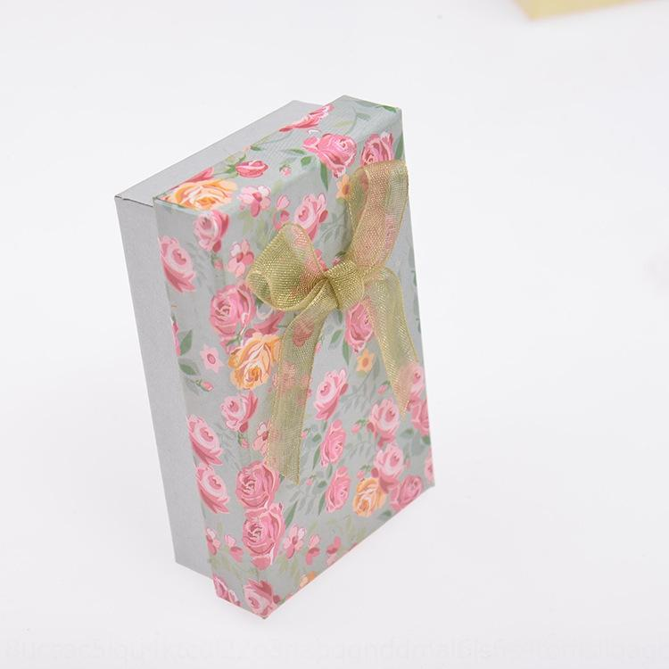 SxdNN Moda kulaklarını gül takı kolye yüzük yüzük kutusu yaratıcı kolye hediye kutusu takı paketleme seti