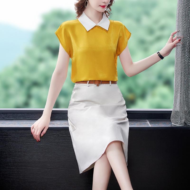 skirt suit 16l6J professionale 2020 di estate nuove donne di Top Coat stile coreano in stile occidentale superiore casuale gonna vestito a due pezzi per le donne